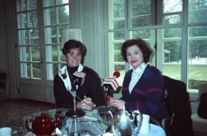 Interviewing Connecticut's former First Lady Claudia Weicker at the Governor's Mansion, Hartford, CT in 1991.