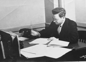 My grandfather in NYC at his West 46th Street office in the 1930s. He was conductor and musical arranger in charge of live orchestra programming for WOR-WOV radio stations. This was the Golden Era of live classical music programming.